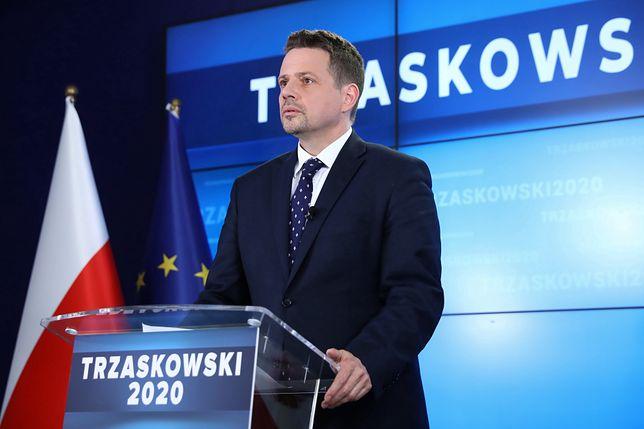 Wybory 2020. Na zdjęciu kandydat KO i prezydent Warszawy Rafał Trzaskowski