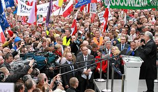 Jarosław Kaczyński na marszu w obronie TV Trwam w 2012 roku.