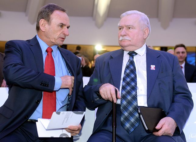 Mieczysław Wachowski i Lech Wałęsa