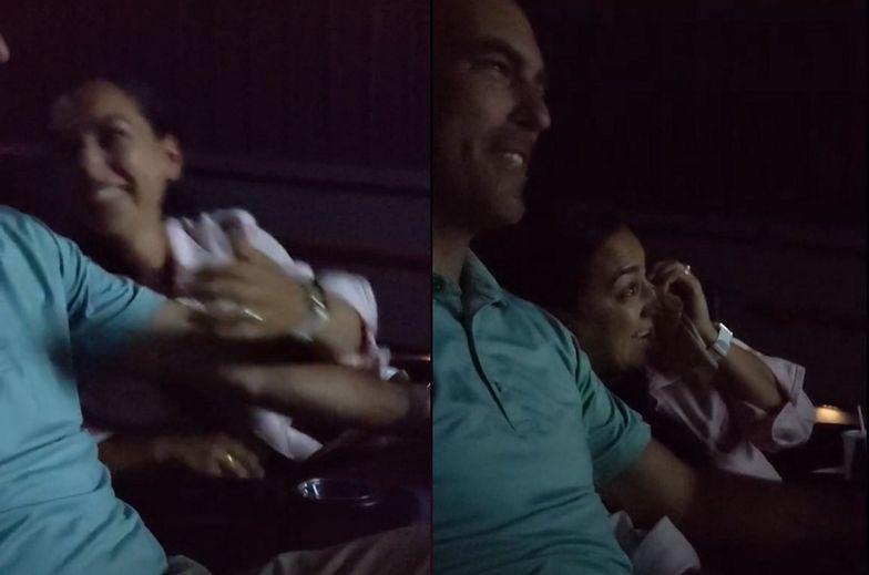 W rocznicę mieli tylko iść do kina. Niespodzianka wywołała fontannę łez