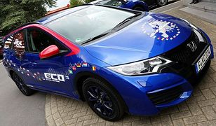 Bijąca Rekord Guinessa Honda Civic Tourer odwiedziła Polskę