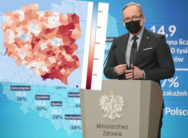 Koronawirus w Polsce. Czwarta fala epidemii może mieć swój początek w niezaszczepionych regionach wschodniej Polski oraz na Podhalu. Szacuje się, że tam odporność populacyjna jest najniższa