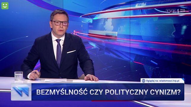 """""""Olga Tokarczuk szkaluje Polskę we włoskim dzienniku"""" - mówił Michał Adamczyk w piątkowych """"Wiadomościach"""""""