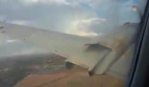 Pasażer mimo paniki nagrał całą sytuację