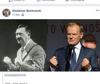 Senator Waldemar Bonkowski udostępnił grafikę na swoim profilu na FB