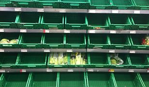 W brytyjskich sklepach coraz częściej zdarza się, że klienci nie mogą dostać niektórych produktów