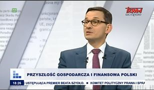 Mateusz Morawiecki udziela wywiadu w TV Trwam