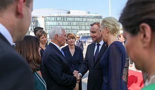 Obchody 80. rocznicy wybuchu II wojny światowej. Na zdjęciu prezydent RP Andrzej Duda i wiceprezydent USA Mike Pence.