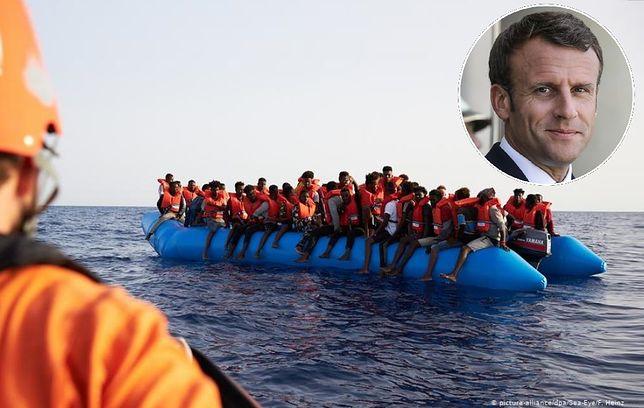Emmanuel Macron ma plan relokacji migrantów. 14 krajów daje poparcie