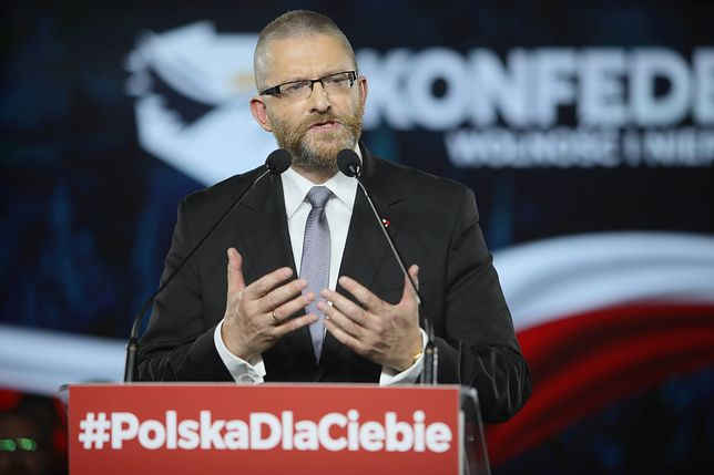 Wyniki wyborów parlamentarnych 2019. Na Grzegorza Brauna zagłosowało 31 148 osób.