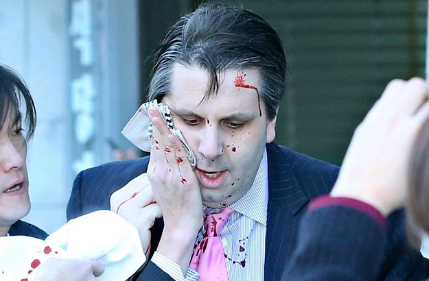 Mark Lippert tuż po ataku