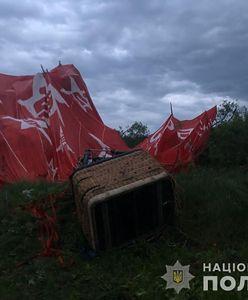 Ukraina. Balon runął na ziemię w Kamieńcu Podolskim