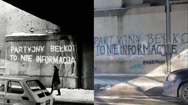 """""""Partyjny bełkot to nie informacja"""" powraca na tę samą ścianę"""