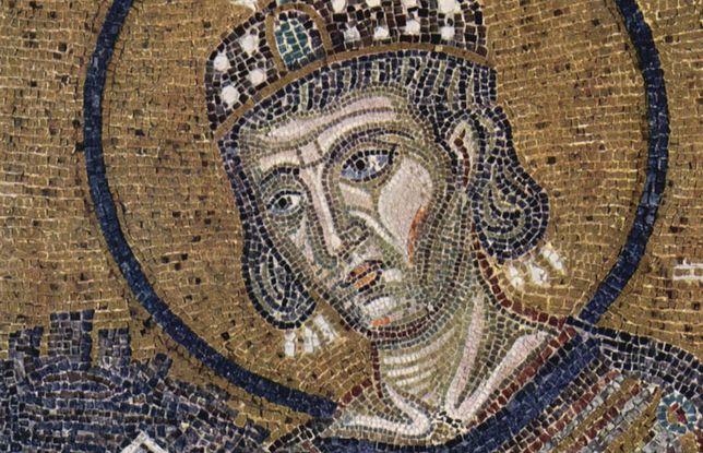 Konstantyn Wielki, mozaika w Hagia Sofia, Stambuł