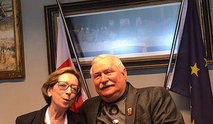 Alma Kadragic i Lech Wałęsa