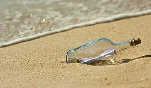 List w butelce, zdjęcie ilustracyjne