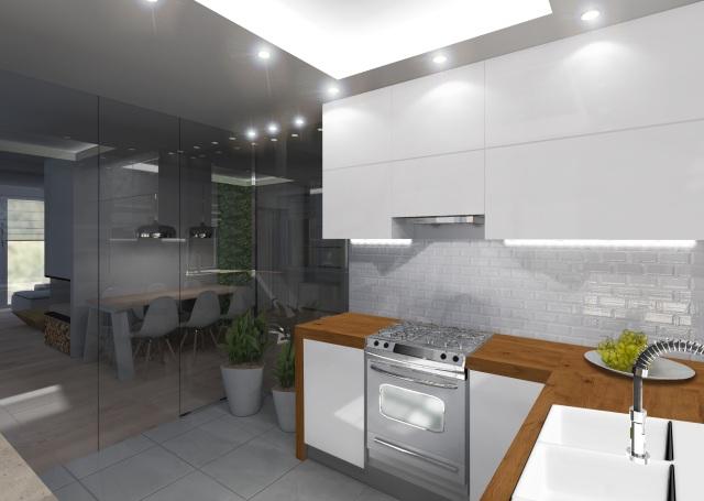 Kuchnia bez okna  iluzje  Ciemna kuchnia  aranżacja   -> Kuchnia Na Poddaszu Bez Okna