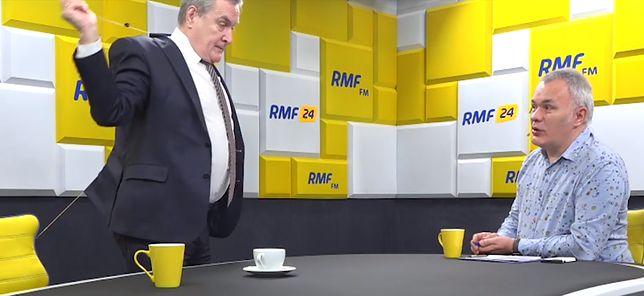 Zrzut ekranu z nagrania rozmowy w RMF FM