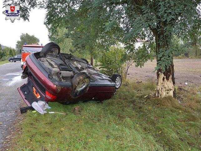 Audi po wypadku