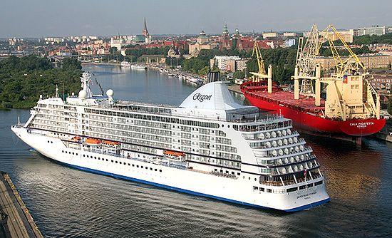 Seven Seas Voyager w Szczecinie