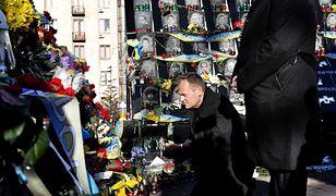 Donald Tusk oddał hołd ofiarom Majdanu Niepodległości
