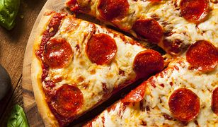 Hot Homemade Pepperoni Pizza Ready to Eat