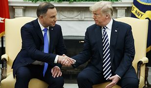 Prezydenci Andrzej Duda i Donald Trump w Białym Domu