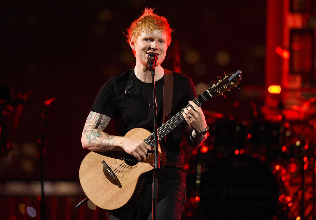 2021 MTV Video Music Awards - Show BROOKLYN, NEW YORK - SEPTEMBER 12:  In this image released on September 12, Ed Sheeran performs onstage at Pier 3 in Brooklyn for the 2021 MTV Video Music Awards broadcast on September 12, 2021. (Photo by Kevin Mazur/MTV VMAs 2021/Getty Images for MTV/ ViacomCBS) Kevin Mazur/MTV VMAs 2021 bestof, topix