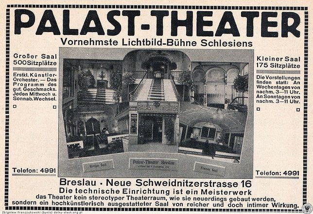 Wrocław. Jubileusz DCF-u. 110 lat kina, bilety za 110 groszy. 3 września 1910 roku powstał Palast-Theater