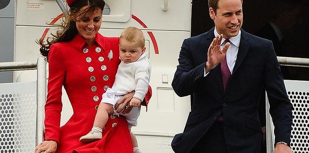 Kate i William w Nowej Zelandii. Pierwsza oficjalna podróż księcia Jerzego! FOTO