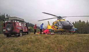 Podczas akcji ratunkowej służba górska świetnie współpracowała z Lotniczym Pogotowiem Ratunkowym