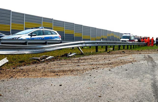 Czerniewice. Wypadek na S8