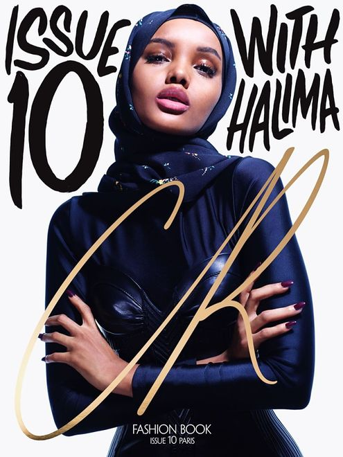 "Halima Aden na okładce ""CR Fashion Book"""