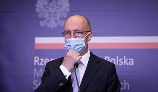 Konferencja prasowa wiceministra spraw zagranicznych Piotra Wawrzyka