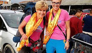 Dwie kobiety w przesiadce w Dubaju. (Od lewej) Monika Witkowska i Joanna Kozanecka