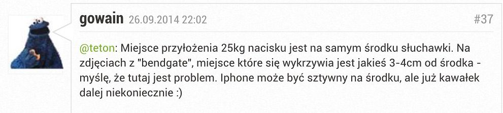 Afera Bendgate ... Użytkownik odkrył to, co przeoczyło Apple