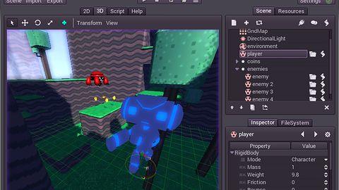 Godot — nowy silnik do tworzenia gier udostępniony wraz z kodem źródłowym