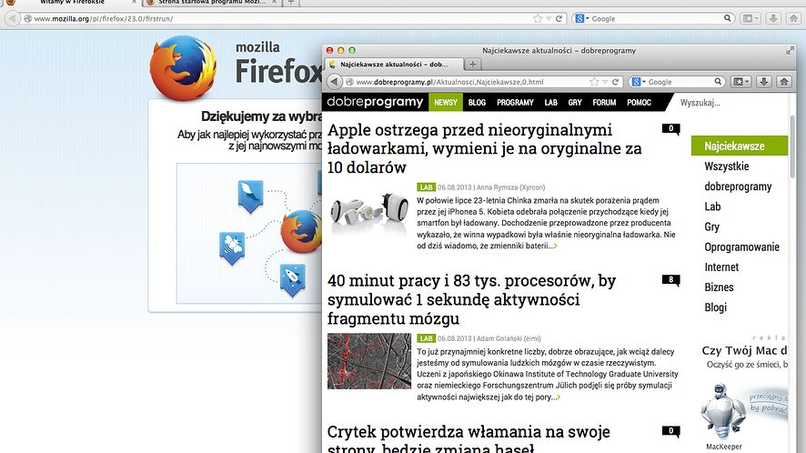 Firefox 23 ochroni przed atakami man-in-the-middle