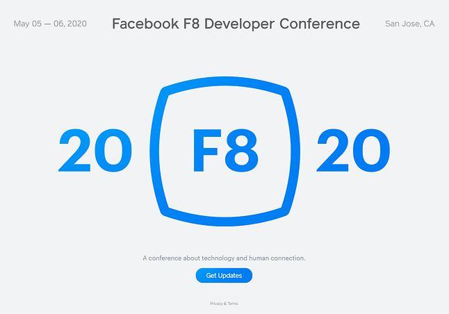 Konferencja F8 2020 zacznie się 5 maja przyszłego roku, źródło: Facebook.
