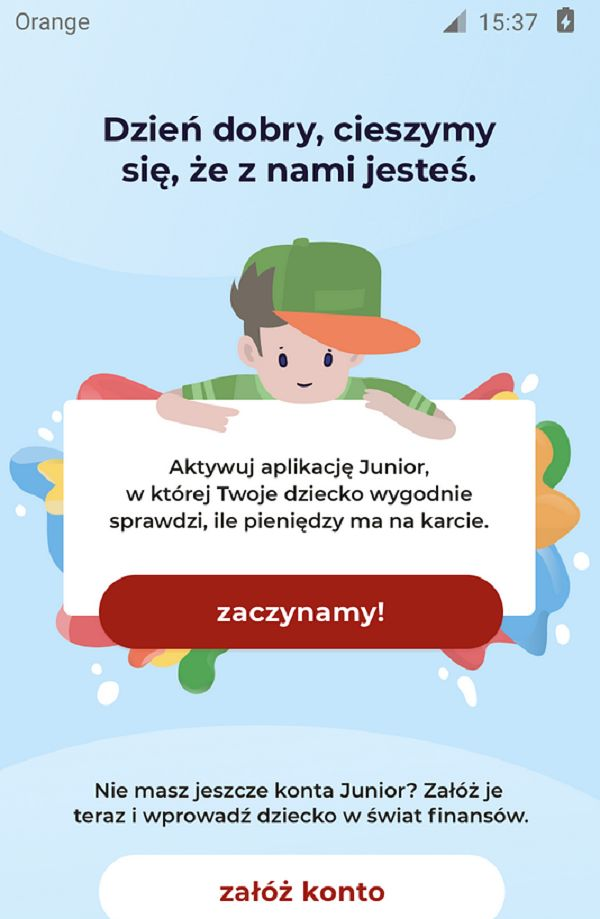 mBank przedstawia aplikację Junior