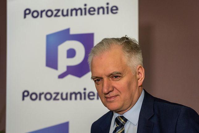 Jarosław Gowin wywołał oburzenie w PiS sobotnim wystąpieniem na sobotniej konwencji