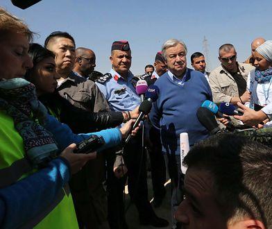 Fot.: SAHEM RABABAH / Sekretarz generalny ONZ Antonio Guterres