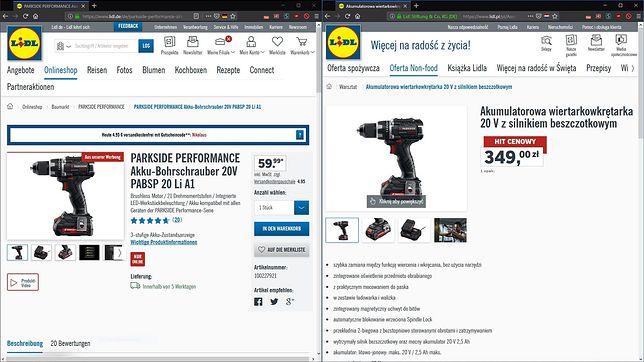 Ten sam produkt, blisko 100 zł różnicy. Dyskont tłumaczy, dlaczego w Niemczech jest taniej