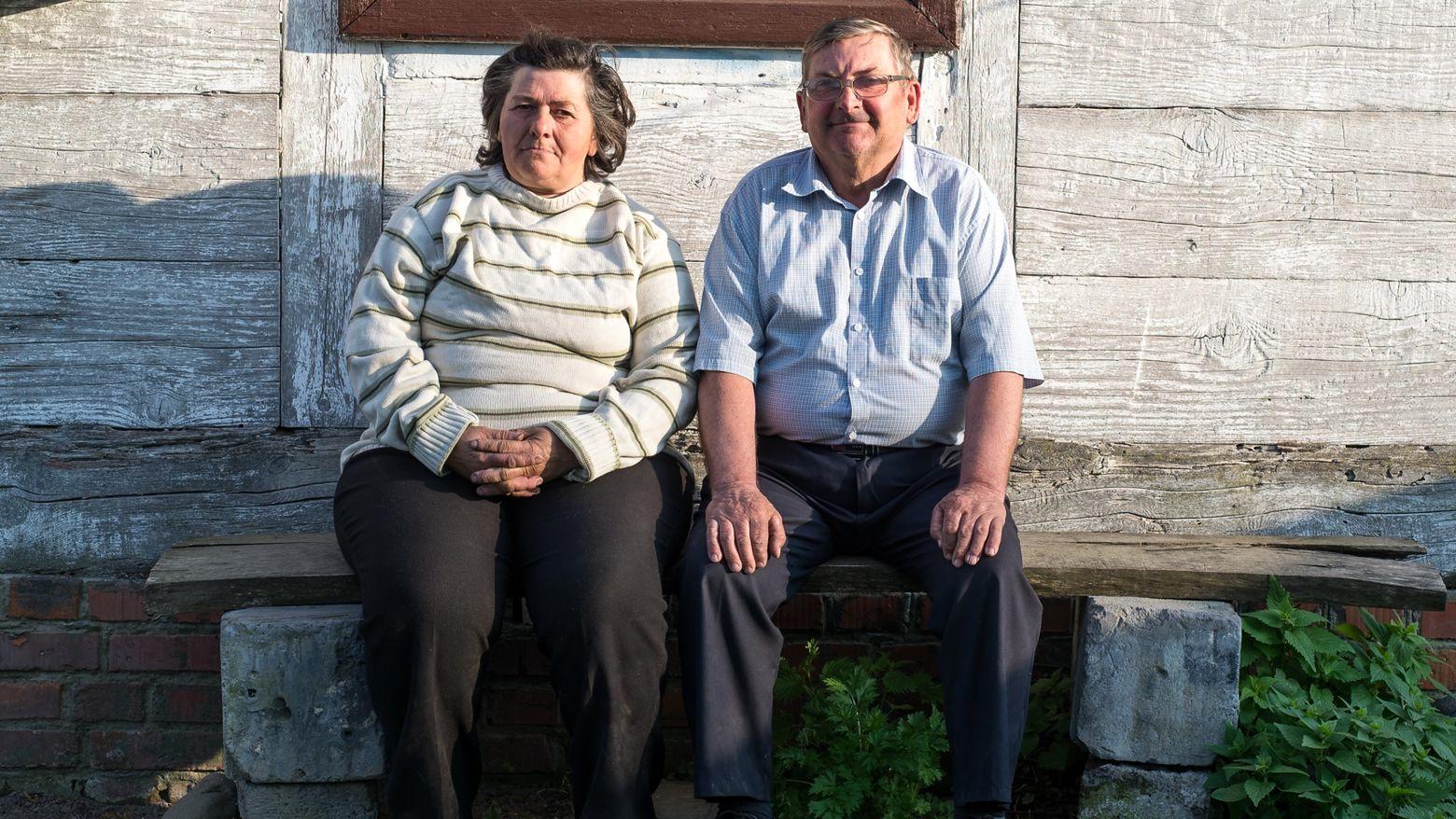 Marian Kołtunicki z żoną