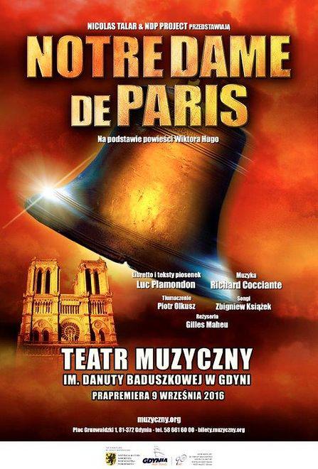 """""""NOTRE DAME DE PARIS"""" w Gdyni także w wakacje!"""