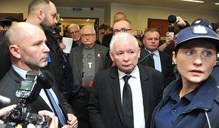 Jarosław Kaczyński i Lech Wałęsa w sądzie