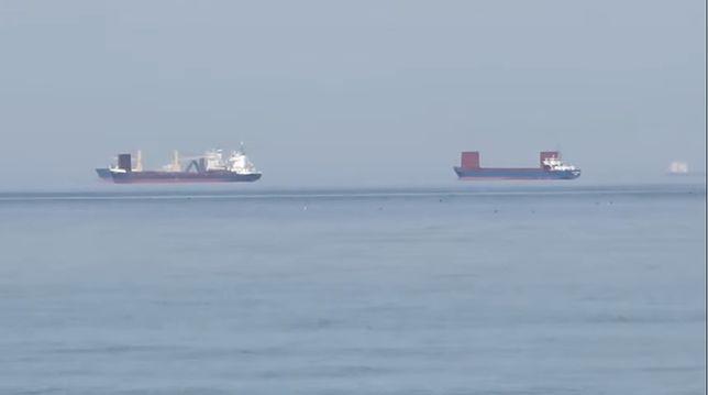 Lewitujące statki na Zatoce Gdańskiej