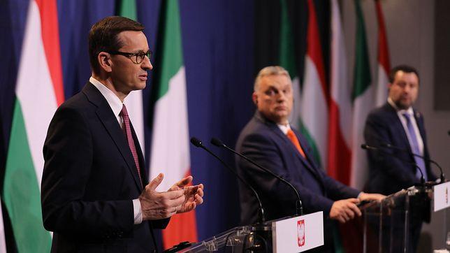 Morawiecki spotkał się w Budapeszcie z Orbanem i Salvinim