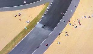 Wypadek kilkunastu motocyklistów. Wszystkiemu wina plama oleju