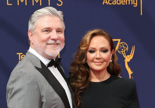 Mike Rinder i Leah Remini, rozdanie nagród Emmy, 2018 r.
